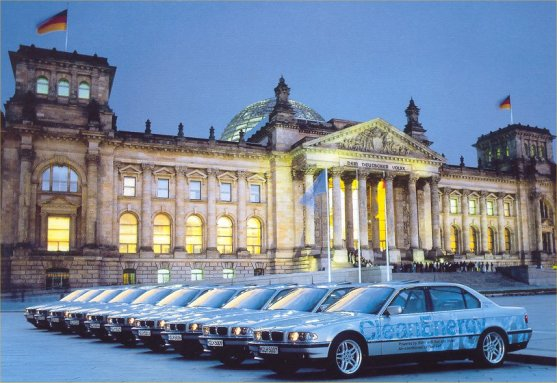 [BMW Proudly Displaying a Fleet of Hydrogen 7ers in Berlin]