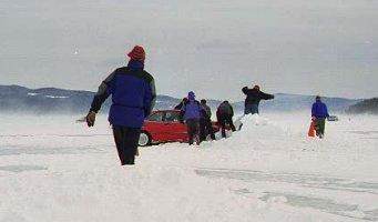 [Rescuing a Corrado from a Snowbank]