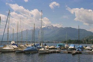 [Boats on Lake Maggiore in Locarno]