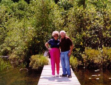 [Mom and Dad at Upper Saranac Lake]